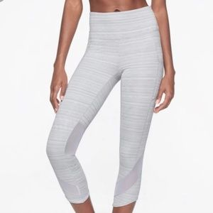 NWOT Athleta Gray jacquard mesh 7/8 legging